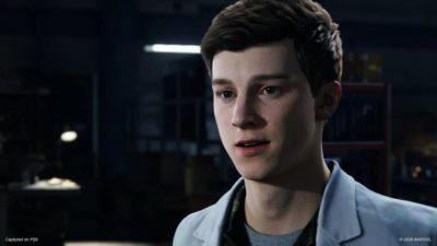 spider-man remastered peter parker visage